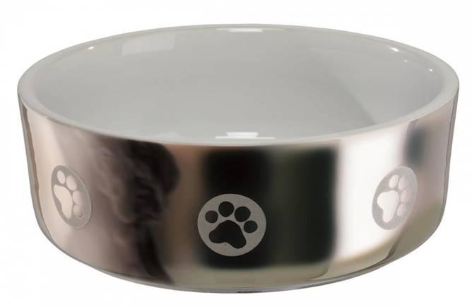 Bilde av Keramikkskål Sølv/Hvit 1,5L
